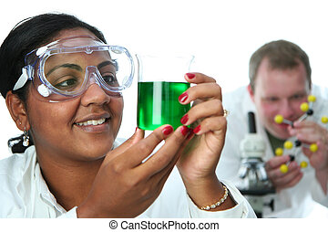 Chemistry Lab - Worker in a lab