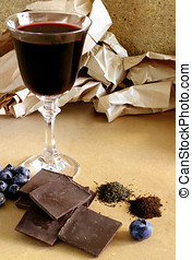 Flavonoid Rich Foods - Red wine, dark chocolate,...