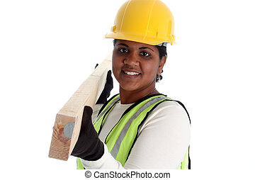 Woman Construction Worker - Minority woman construction...