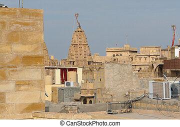 Jaisalmer - city view of Jaisalmer, a town in India