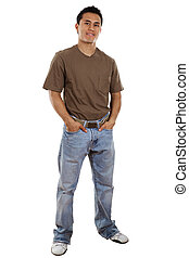 Casual man - Stock image of casual man isolated on white...