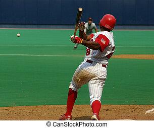 Baseball batter swinging, right-handed
