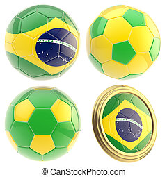 Brazil football team attributes isolated - Brazil football...