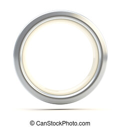 Silver ring copyspace torus isolated on white