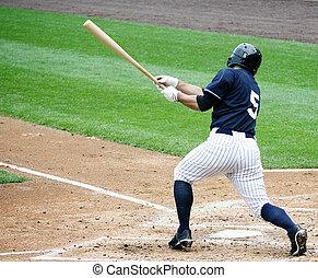 Baseball batter swinging, right handed
