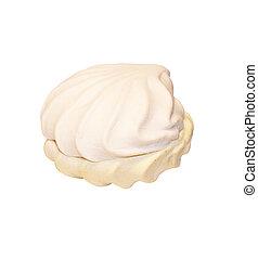 Sweet dessert over white background