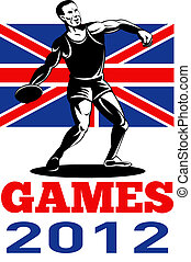 Games 2012 Discus Throw British Flag
