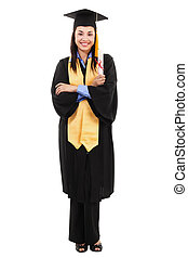Female graduate - Stock image of happy female graduate...