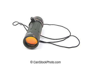 Military monocular - isolated on white background