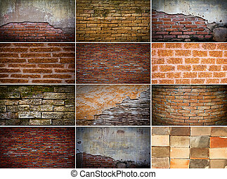 Collection of brick wall