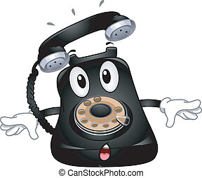 Telephone Mascot - Mascot Illustration Featuring a Ringing...