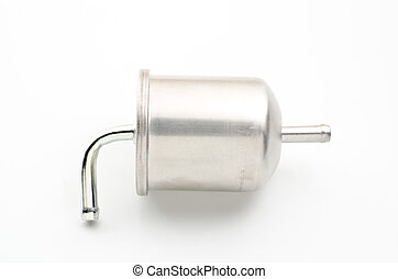 Car fuel filter - Silver car fuel filter for replacement...