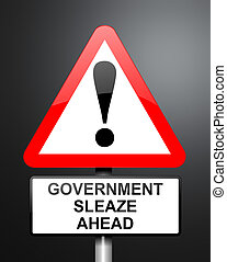 Government sleaze concept - Illustration depicting red and...