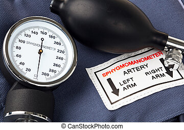 Sphygmomanometer - Photo of a Sphygmomanometer, the medical...