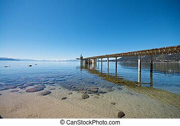 Pier at Lake Tahoe in California