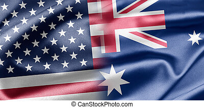 USA and Australia - Excellent vivid images of flags for you...