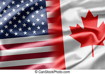 USA and Canada - Excellent vivid images of flags for you....