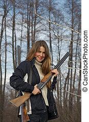 cazador, escopetas