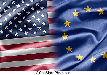 USA and EU - Excellent vivid images of flags for you With...