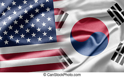 US and South Korea - Excellent vivid images of flags for you...