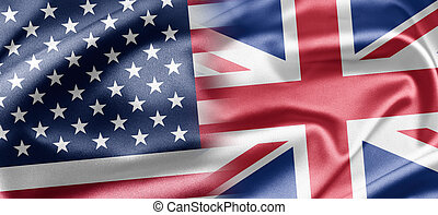 U.S. and UK. - Excellent vivid images of flags for you. With...