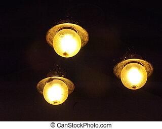light in dark - three light in dark night