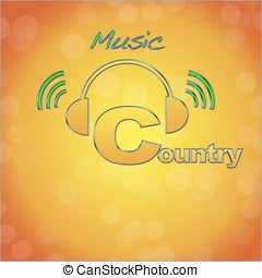 Country. - Country, music logo.
