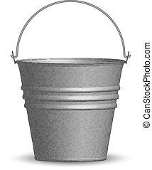 vetorial, Ilustração, balde