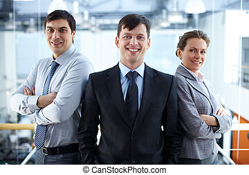 Business partners - Portrait of a confident business team...