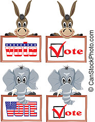 usa election - the democratic party and the conservative...