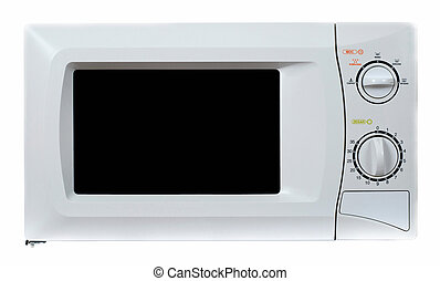 Microwave oven isolated on a white backgroun