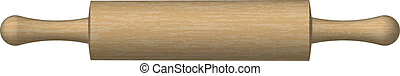 Vector Illustration of a rolling pin