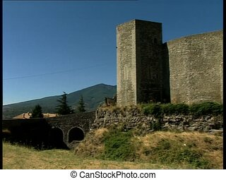 MELFI castle rear side pan - Rear side view of the norman...