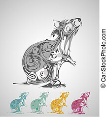 abstract vector rat background - decorative background