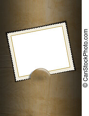 Background with Blank Stamp - Black and brown business...