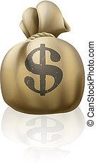 Dollar money sack