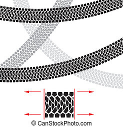 Tire Track. Illustration for design on white background.