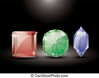 collection of precious stones