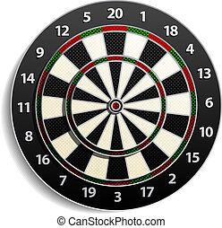 dart Target isolated on white