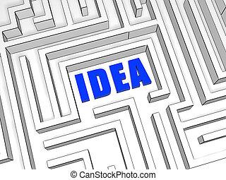 blue idea in labyrinth