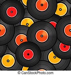 Vinyl audio discs seamless background