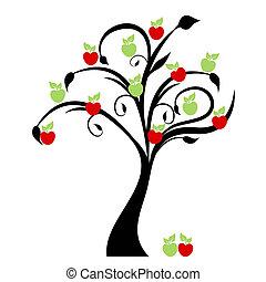 Apple Tree - Beautiful apple tree isolated on white...