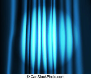 Theatre curtain with round spot of light