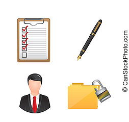 business icons over white background. vector illustration