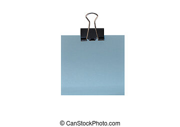 Memo holder with blank card isolate