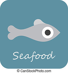 Seafood - vector icon