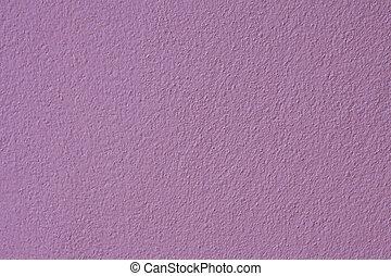 Masonry walls purple.
