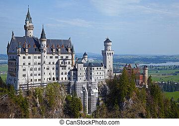 Castle Neuschwanstein at Schwangau, Bavaria, Germany, 2010...