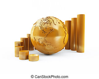 Global finance - 3D rendering of a global finance concept
