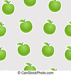 Green apples seamless background